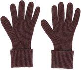 N.Peal cashmere 'Ladies' ribbed gloves