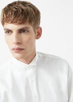 MANGO MAN Slim-Fit Tailored Wing Collar Shirt