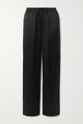 Vince Silk-satin Wide-leg Pants - Black