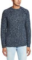 French Connection Men's Ryder Cable Knit Sweater with Zip