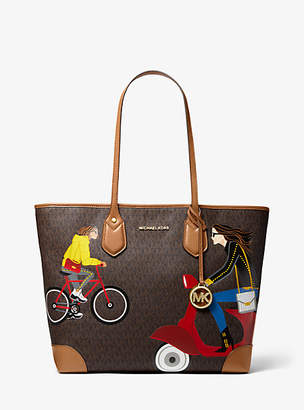 Michael Kors Eva Large Jet Set Girls Tote Bag