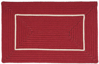 """One Kings Lane Accent Doormat - Red/White - 18""""x30"""""""