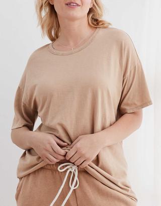 aerie Boyfriend Distressed Oversized T-Shirt