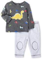 Vitamins Baby Newborn Boys) Two-Piece Dinosaur Sweatshirt & Pants Set