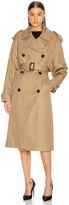 Saint Laurent Trench Coat in Beige Fonce | FWRD