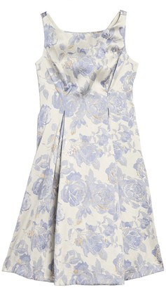 Marina Floral Jacquard Dress