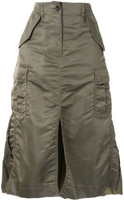 Sacai Pleated Contrast Skirt