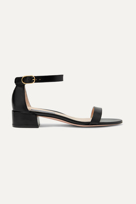 Stuart Weitzman Nudistjune Leather Sandals - Black