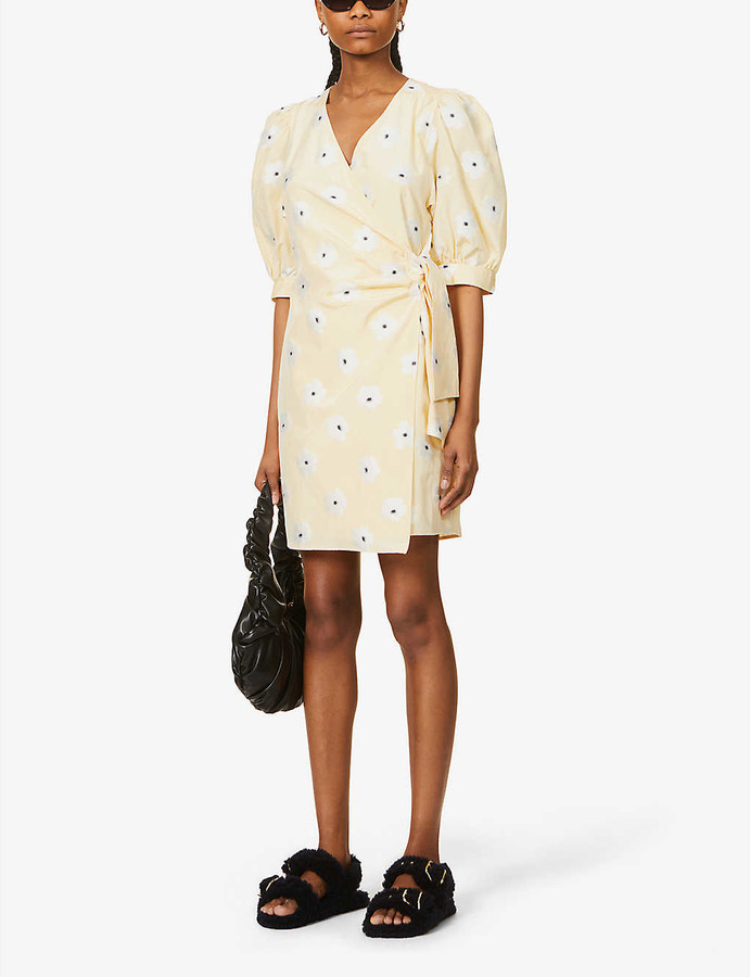 Thumbnail for your product : Samsoe & Samsoe Celestina floral-embroidered woven mini dress