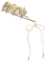 Valentino Garavani Feather-embellished beaded headband