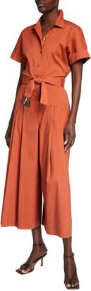 Lafayette 148 New York Hark Stretch Cotton Jumpsuit