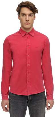 Balenciaga Washed Cotton Fitted Stretch Shirt