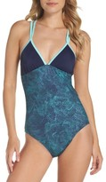 Zella Women's Colorblock One-Piece Swimsuit