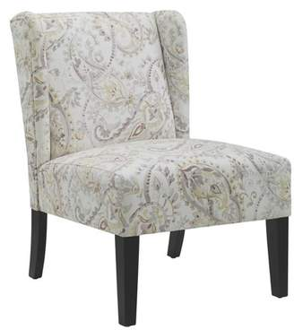 Linon Grace Wing Back Chair - Blue