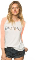 Spiritual Gangster Grateful Sport Solid 3/4 Sleeve Tee