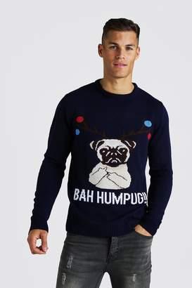 boohoo BAH Humpug Knitted Christmas Jumper