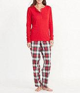 Lauren Ralph Lauren Henley & Plaid Twill Pajamas