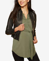 Motherhood Maternity Faux Leather Jacket