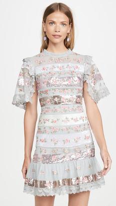 Needle & Thread Rose Bud Stripe Mini Dress