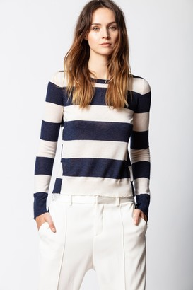 Zadig & Voltaire Source Cachemire Stripes Sweater