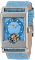 Burgmeister Delft Women's Automatic Watch with Blue Dial Analogue Display and Blue Leather Strap BM510-133