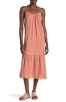 Lush Tiered Tie Back Maxi Dress
