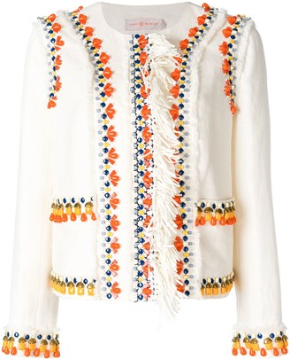 Tory Burch Beaded Fitted Jacket