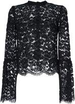 Aula flared cuff lace detail top