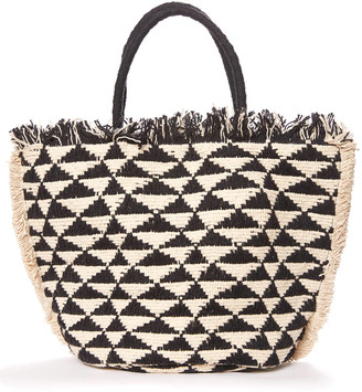 Shiraleah Romy Pattern Tote Bag Black Multi 1 Size