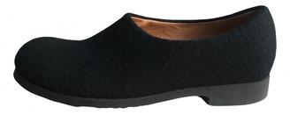 Dries Van Noten Black Tweed Flats