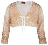 Missoni Gold Knit Bolero Cardigan