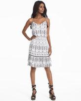 White House Black Market Strappy Soft Printed Blouson Dress