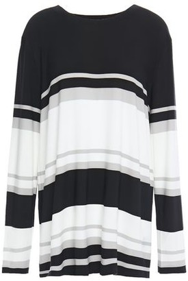 Norma Kamali Striped Stretch-jersey Top