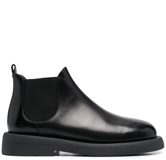 Marsèll Elasticated Panel Platform Sole Ankle Boots
