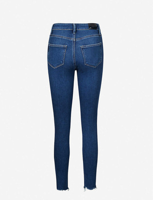 Paige Margot Ankle skinny high-rise stretch-denim jeans
