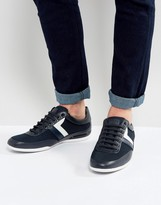 BOSS GREEN By Hugo Boss Technical Mesh Sneakers Navy