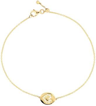 Bony Levy 18K Yellow Gold Pave Diamond Heart Charm Bracelet