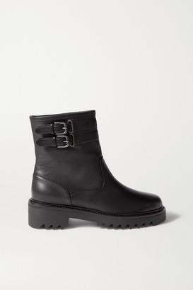 Aquazzura Ryder 30 Leather Ankle Boots - Black