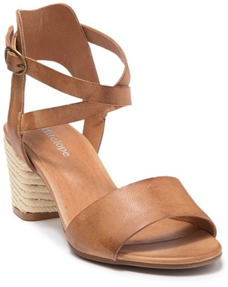Antelope Ankle Strap Espadrille Block Heel Sandal