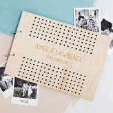 Clouds and Currents Personalised Polka Dot Wedding Photo Album