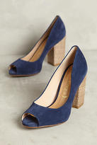 Anthropologie Vicenza Raffia-Heel Peeptoe Pumps