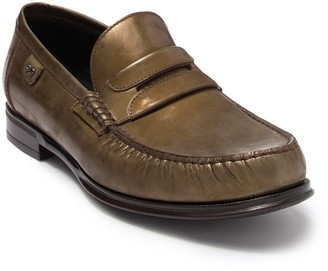 Dolce & Gabbana Metallic Leather Penny Loafer