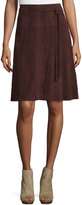 Joie Maise Belted Soft Suede Skirt