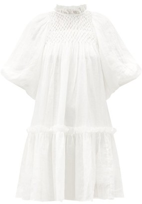 Sea Geneva Smocked Cotton Dress - White