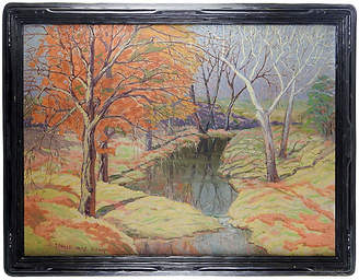 One Kings Lane Vintage 1930s Impressionist Landscape - Artifax Antiques Art