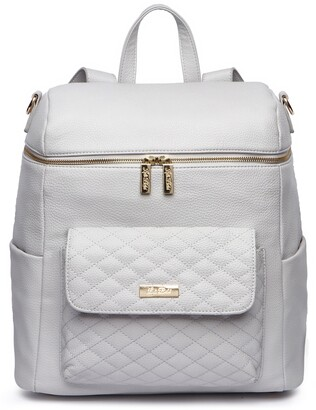 Luli Bebé Monaco Faux Leather Diaper Backpack