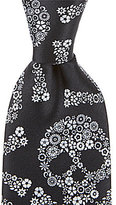 Murano Skull Narrow Silk Tie