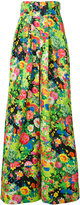 Rosie Assoulin floral print flared pants - women - Cotton/Viscose - 2