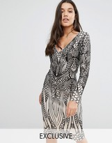 Club L Placement Sequin Midi Dress