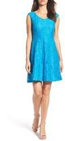 Ellen Tracy Women's Lace Fit & Flare Dress